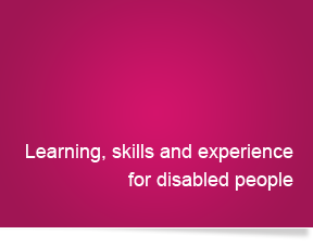 Learning, skills and experience for disabled people