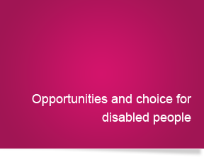 Opportunities and choice for disabled people